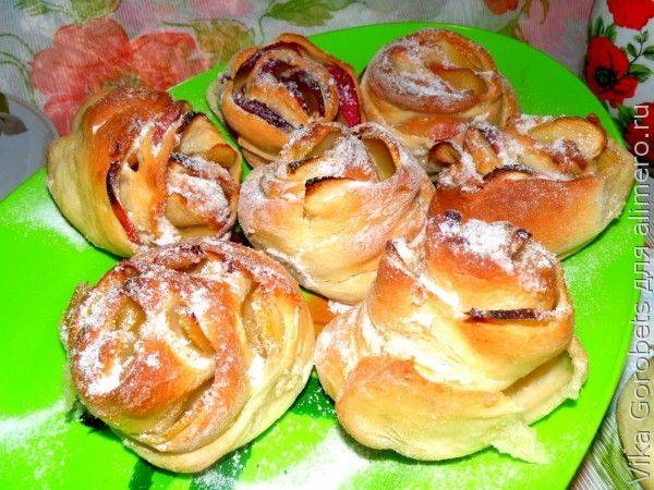 Булочки - розочки с яблоками - рецепт с фотографиями - patee. рецепты
