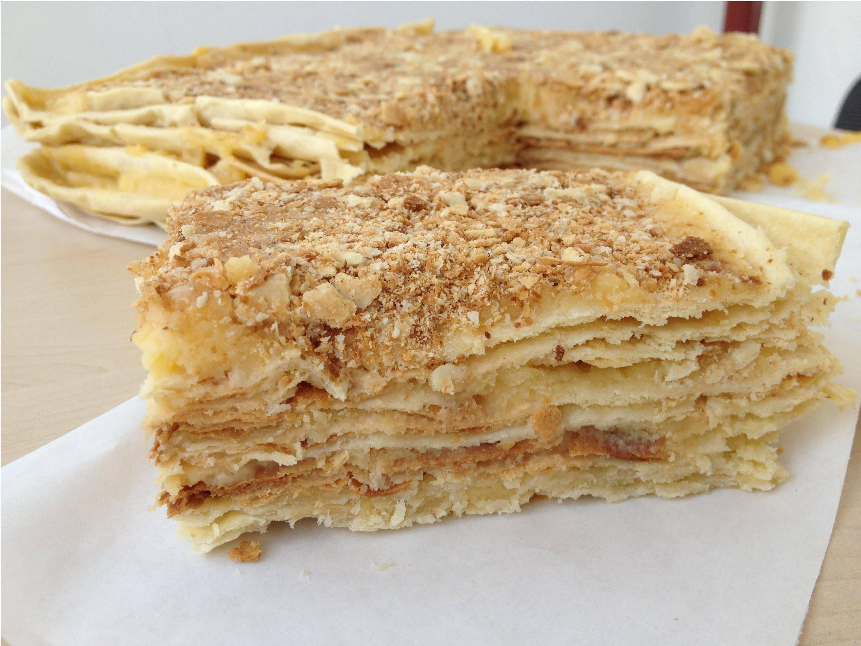 Торт «наполеон» с классическим, домашним заварным кремом — рецепт от моей бабушки