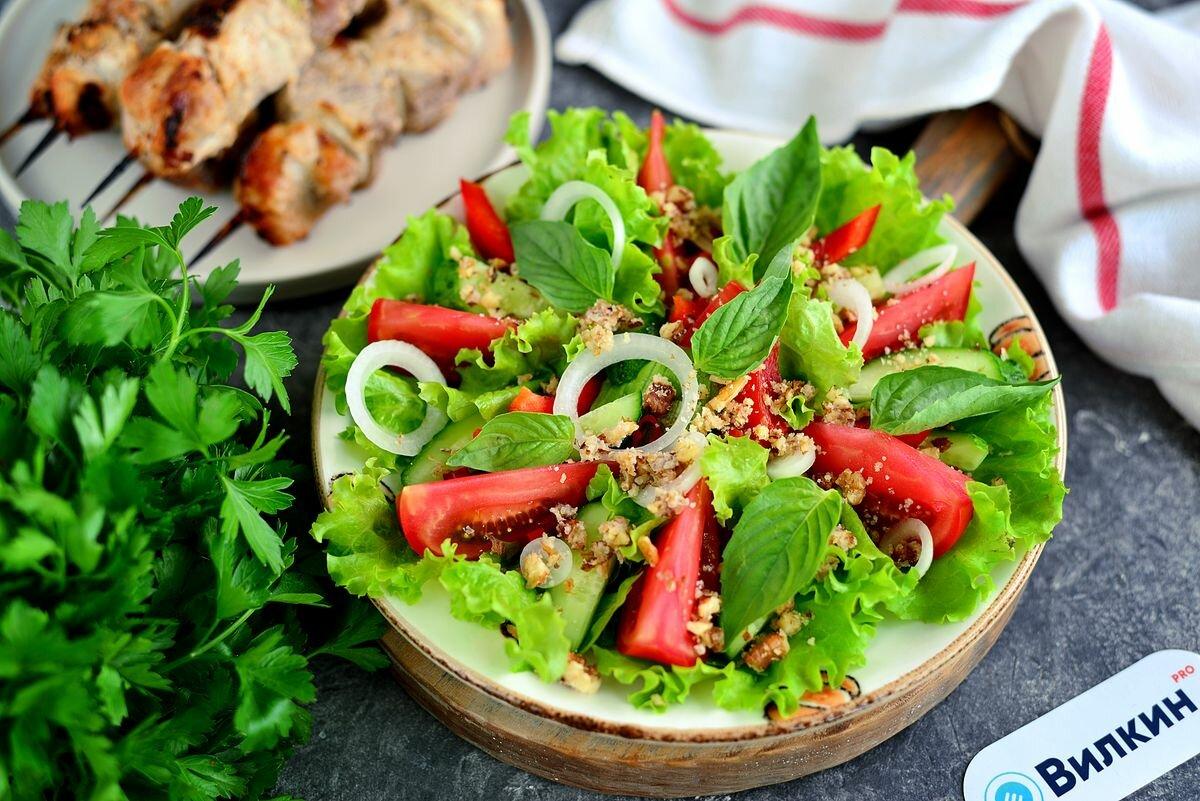 Салат с грецким орехом - 215 домашних вкусных рецептов приготовления