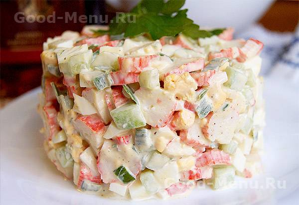 Салат с крабом натуральным