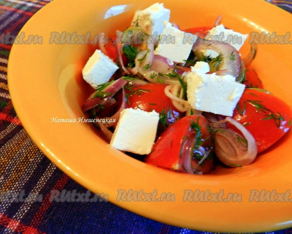 Рецепты салат с моцареллой и черри