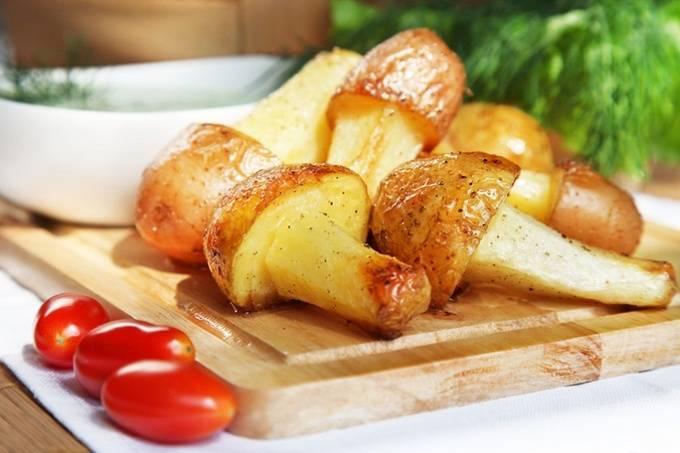Картофельные грибочки во фритюре