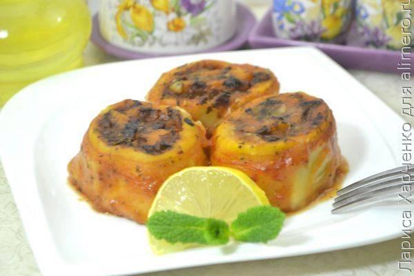 Интереснейший рецепт к посту - картофельные рулетики с грибами