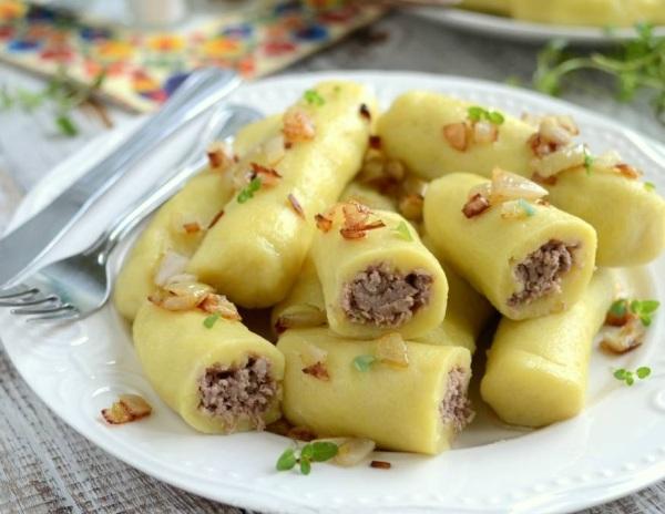 Кнедлики чешские  картофельные, на пару