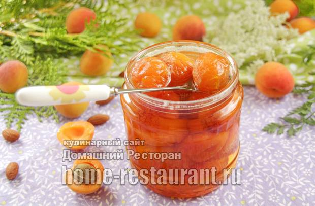 Варенье из абрикосов с миндалем. абрикосовое варенье дольками с миндалем, рецепт.