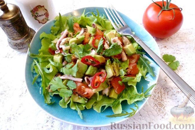 Салат с авокадо за 10 минут