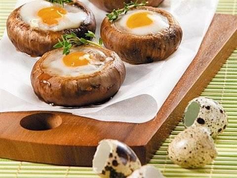 Рецепт фаршированных шампиньонов с перепелиными яйцами пошагово с фото или готовим дома фаршированные яйца