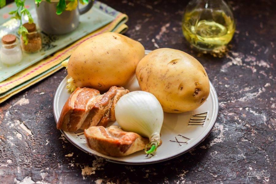 Картошка с грудинкой в духовке рецепт с фото