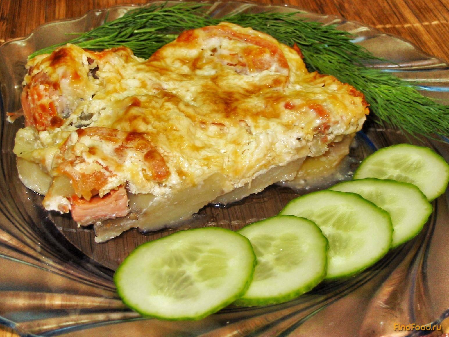 Картофельная запеканка с рыбным фаршем