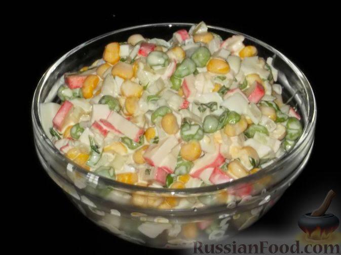 Салат с зеленым горошком: рецепты с фото