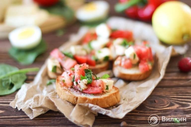 Брускетта с помидорами - пошаговый рецепт с фото |  закуски