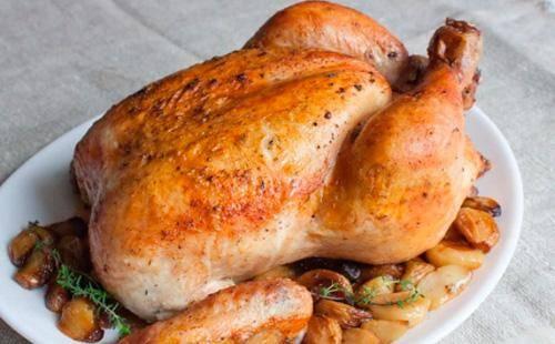 Курица в духовке с майонезом и чесноком