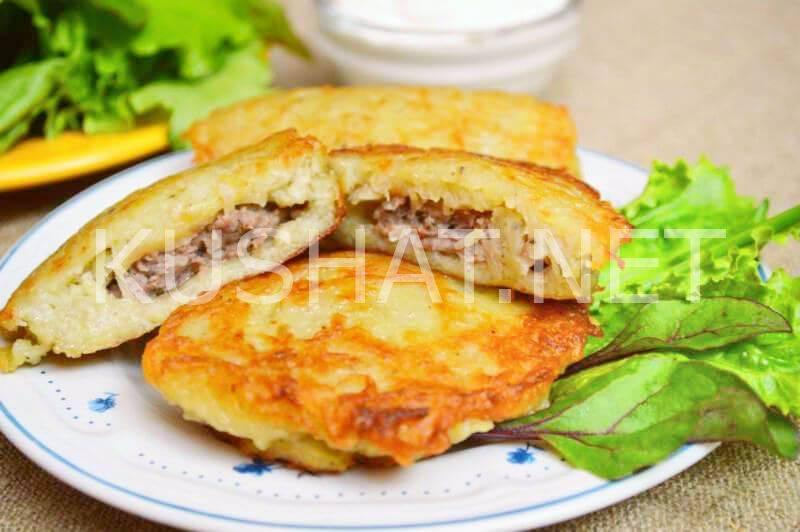 Рецепты драников из картофеля с колбасой