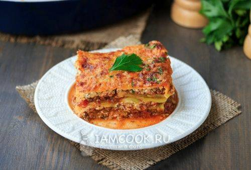 Как сделать лазанью из кабачков по пошаговому рецепту с фото