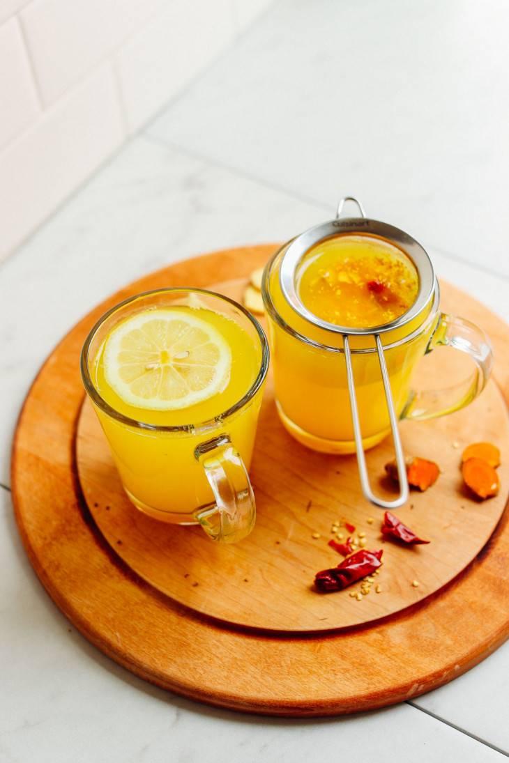 Чай с корицей и имбирем согревающий