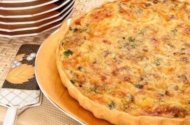 Лоранский пирог с курицей и грибами. пошаговый рецепт с фото • кушать нет