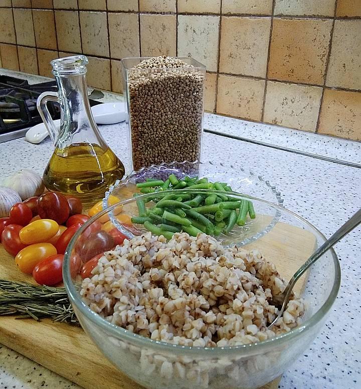 Гречка с фасолью рецепт