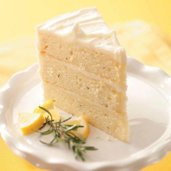 Лимонный торт с розмарином