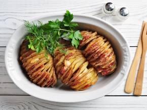 Рецепт картошка гармошка в духовке с фото