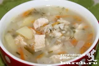 Морковный суп с овсяными хлопьями
