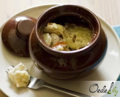 Куриное филе с картошкой в духовке с сыром