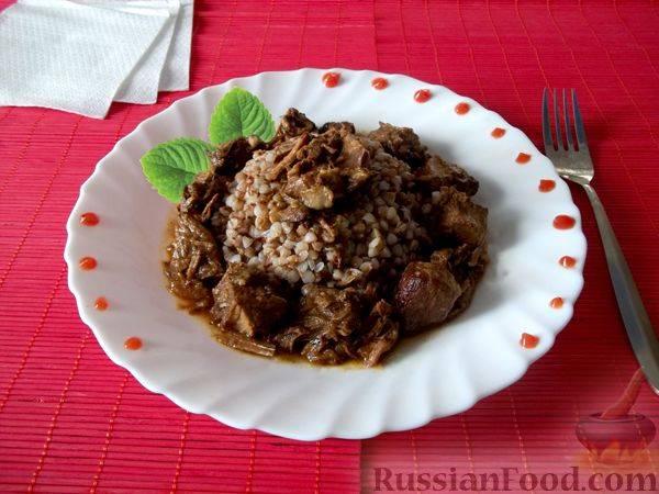 Свиная печень с грибами в соусе - рецепт с фотографиями - patee. рецепты