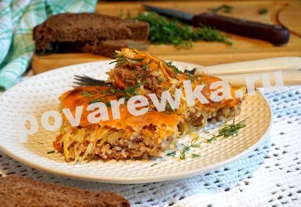 Ленивые голубцы рецепт с фото пошагово в духовке на противне