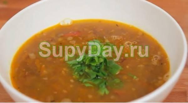 Овощной суп-пюре с чечевицей