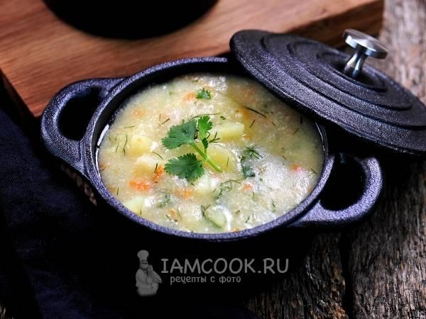 Суп с чечевицей и сыром