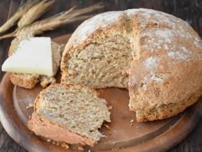 Хлеб на кефире без дрожжей по простому пошаговому рецепту с фото