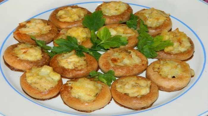 Фаршированные сушки с кабачками в сырном кляре