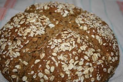 Хлеб без дрожжей (на кефире). он же — ирландский содовый хлеб