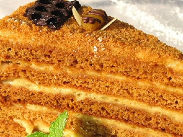 Торт с заварным сметанным кремом