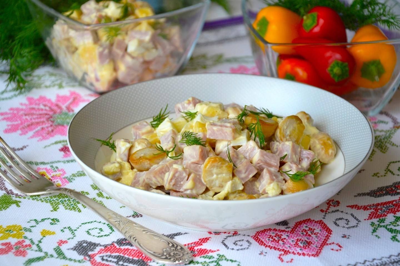 Итальянский салат с макаронами и ветчиной — готовим дома