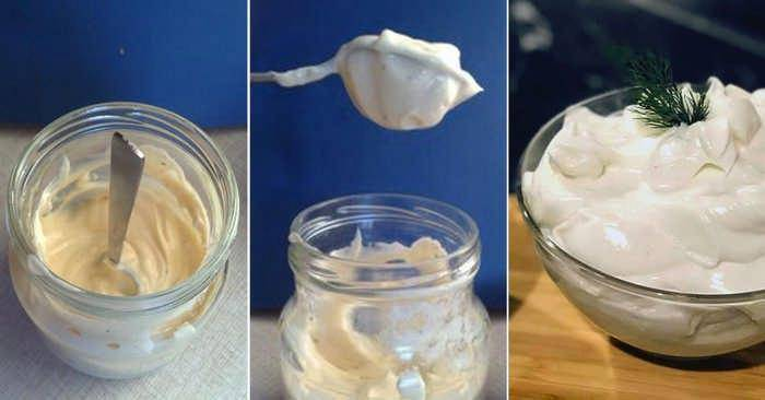 Рецепт домашнего майонеза без яиц на молоке