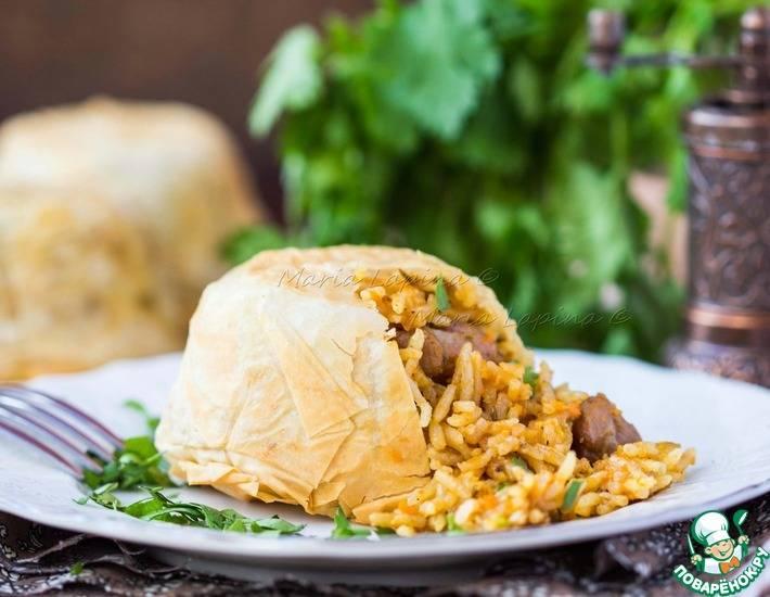 Кабачки, фаршированные грибами и рисом