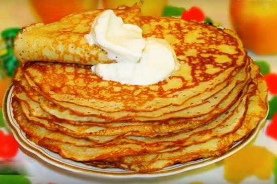 Дрожжевые блины на молоке и кефире - 15 пошаговых фото в рецепте
