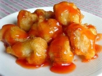 Курица в духовке в кисло сладком соусе