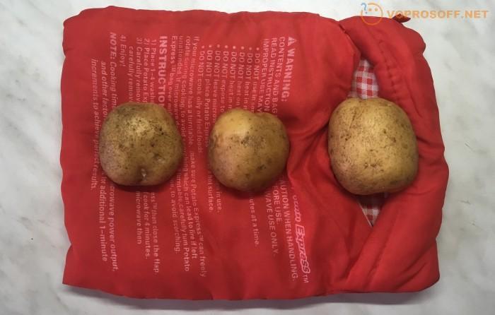 Картошка в микроволновке без пакета