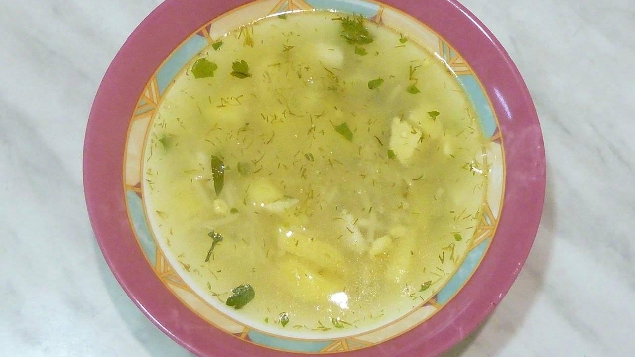 Кудрявый суп с яйцом