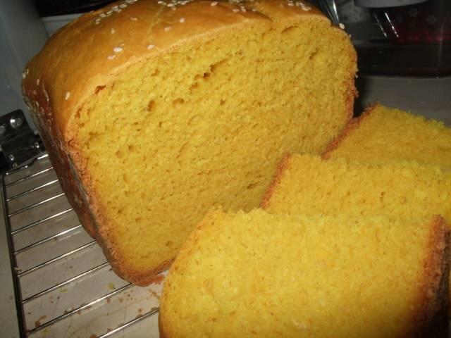 Кукурузный хлеб в хлебопечке - 6 пошаговых фото в рецепте