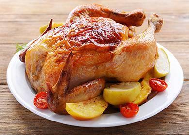 Курица, запеченная в рукаве целиком - 6 пошаговых фото в рецепте