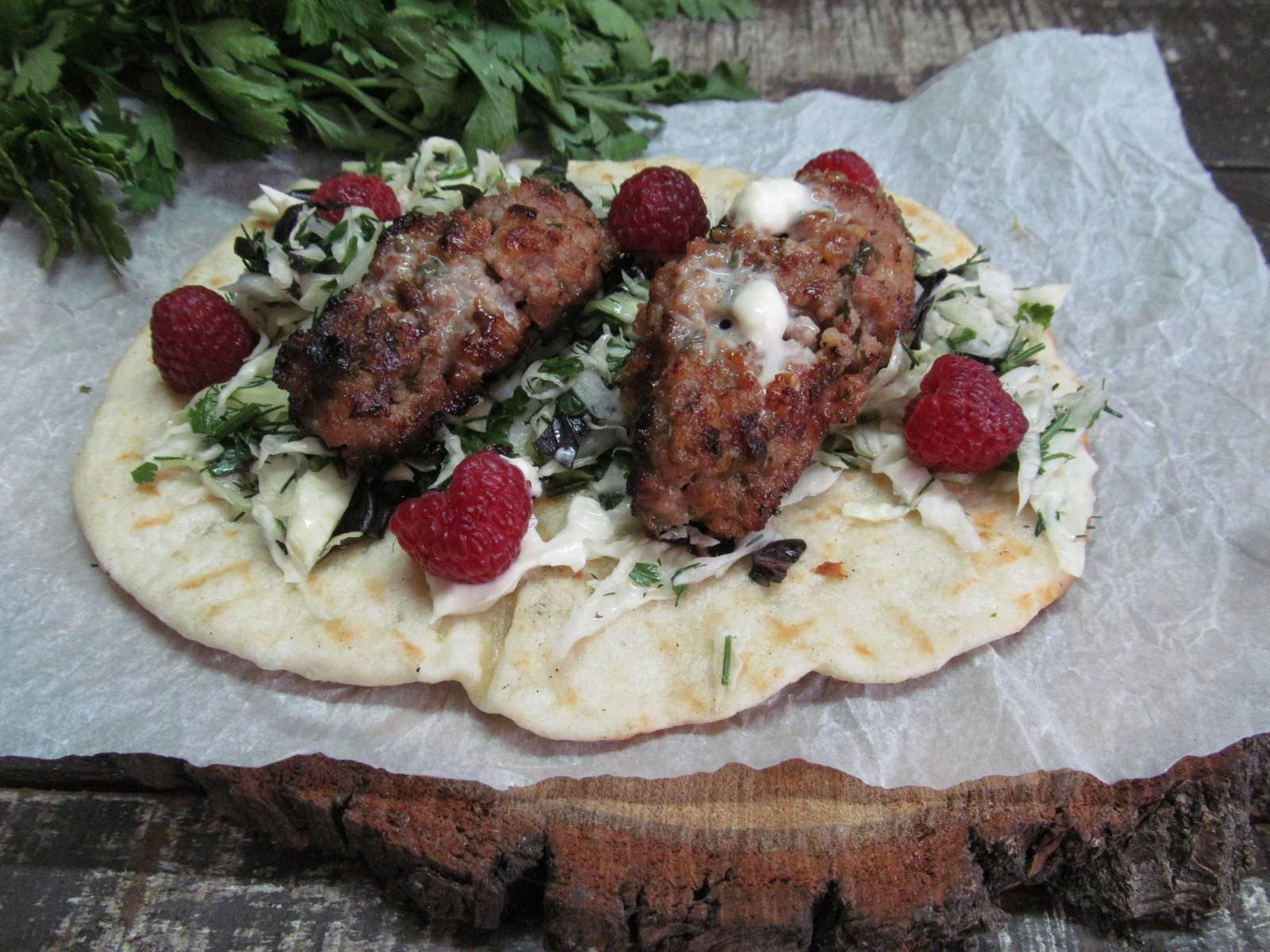 Лепешки с салатом
