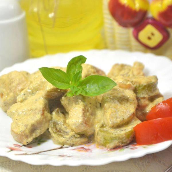 Куриная грудка с грибами в соусе - 6 пошаговых фото в рецепте