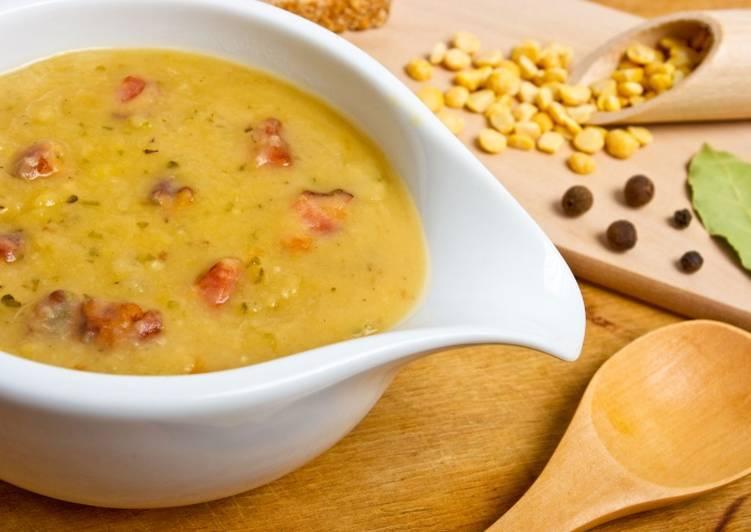 Постный гороховый суп-пюре