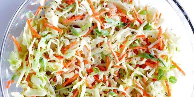 Быстрый салат из капусты с лимонной заправкой