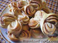 Аппетитные булочки с корицей из дрожжевого теста
