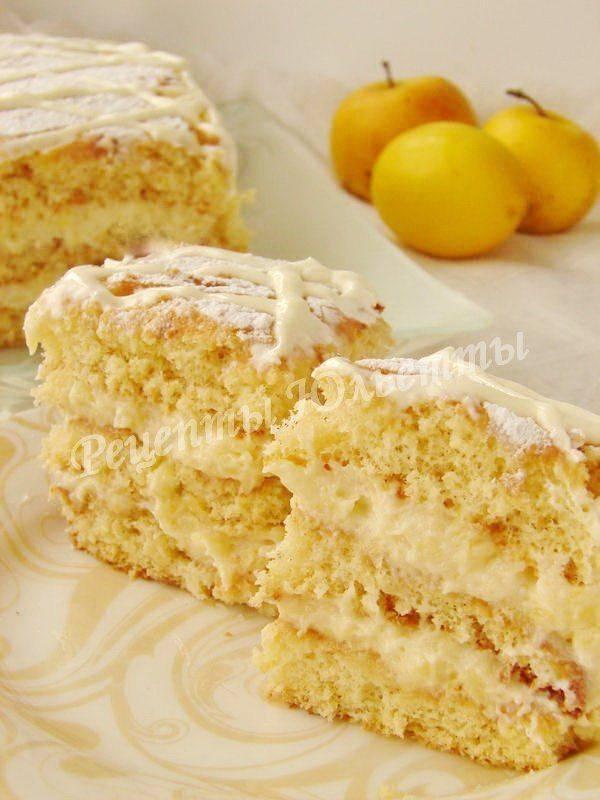 Пошаговый рецепт лимонного торта с фото