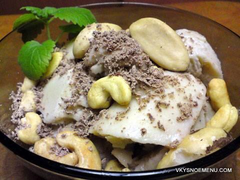 Десерт «бананово-ореховое мороженое»