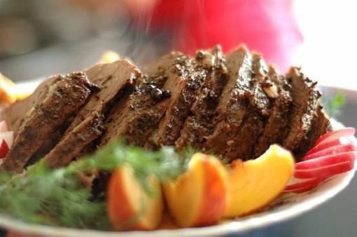 Грудинка, фаршированная мясом